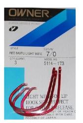 Anzol owner mutu light circle red 5114 Nº 06